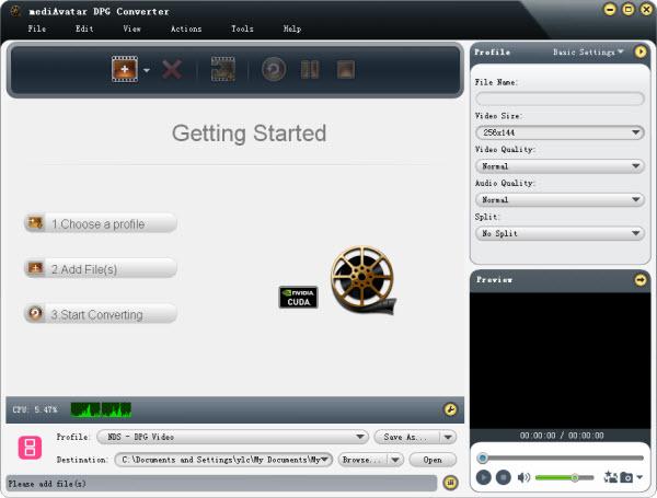 convert videos to nintendo dpg
