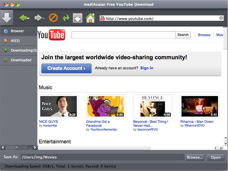 Free YouTube Download Mac