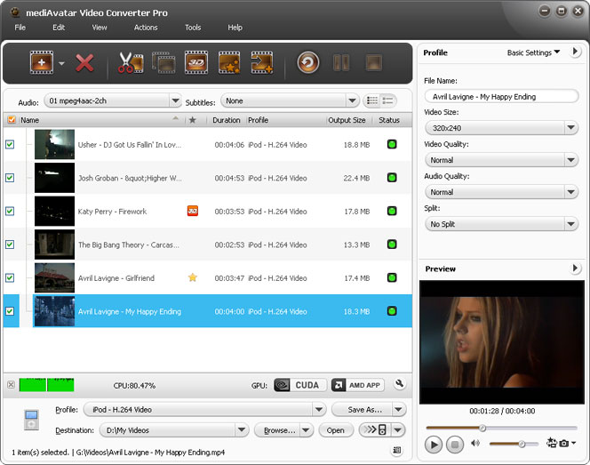 Mediavatar Video Converter Pro Video File Converter
