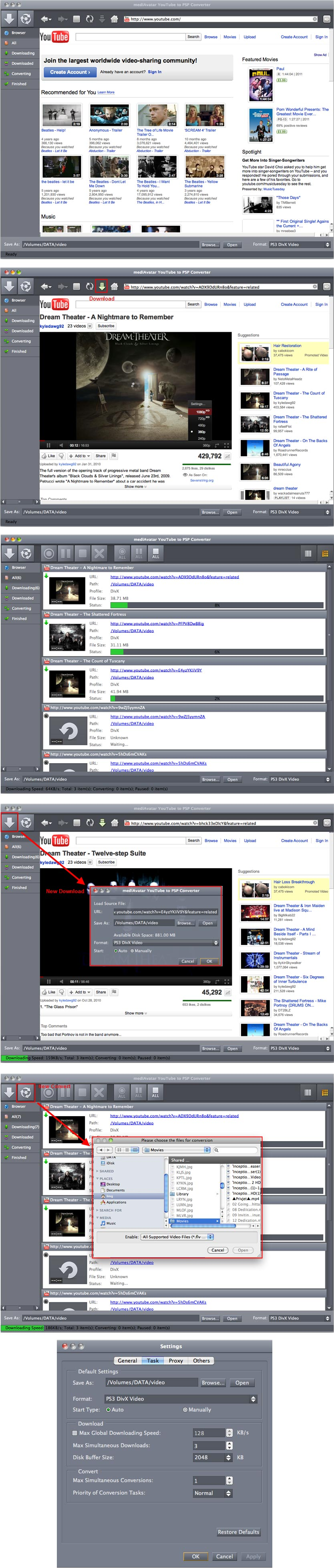 YouTube to PSP Converter Mac